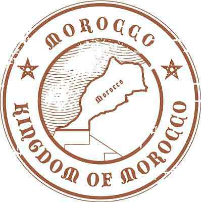 "Morocco Travel Bumper Sticker Decal 5"" x 5"""