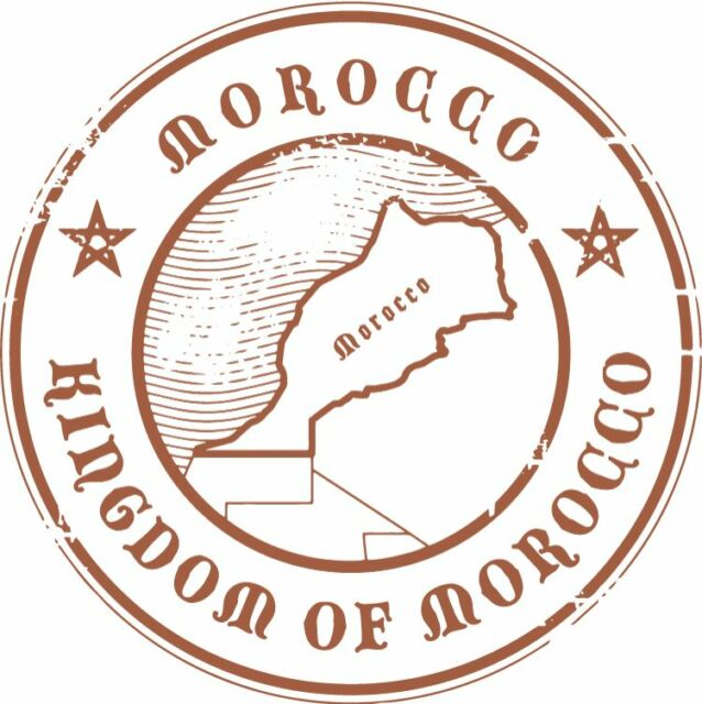 "Morocco Travel Bumper Sticker Decal 5"" x 5"""