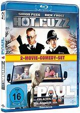 HOT FUZZ  und  PAUL - ein Alien auf der Flucht   2 BLU RAYs #B2D NEU in Folie