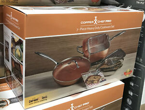 New Copper Chef Pro 7 Pc 11 Quot Square Amp 12 Quot Round Fry Pan