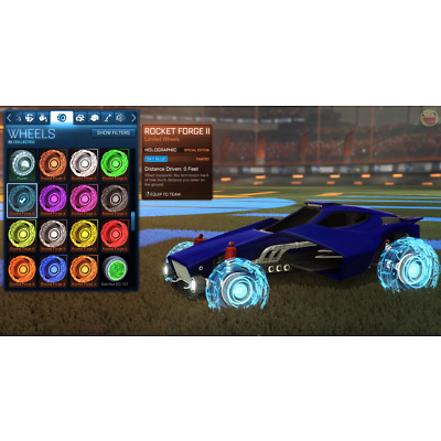 [XBOX ONE] ALL HOLOGRAPHIC (Rocket Forge II) PAINTED WHEELS (ROCKET LEAGUE) RP2