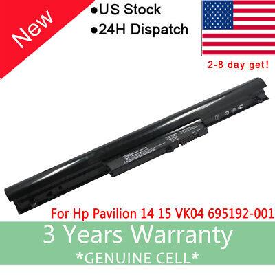 Bateria para Hp Pavilion TouchSmart 15-B109wm Sleekbook VK04 14,4V 2200mAh