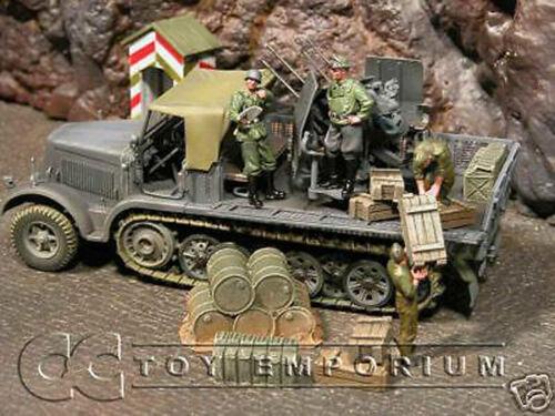 RETIRED Forces Of Valor German Flakvierling 1//2 Track
