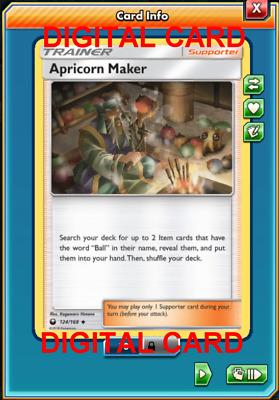 4x Apricorn Maker 124//168 Pokemon Card TCG Online Card PTCGO Digital Card