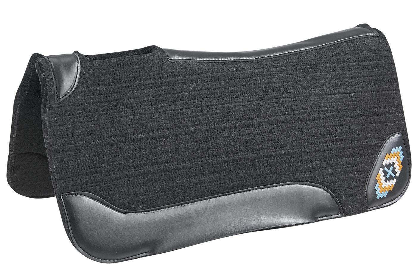 Wild cuerno Western  pad Aztec filzpad arte ribete de piel con aplicación 31x32 78x80  costo real