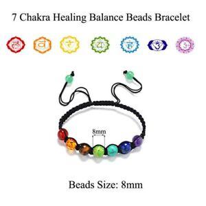 7-Chakra-Healing-Balance-Bead-Braided-Lava-Yoga-Reiki-Prayer-Stones-Bracelet-Hot
