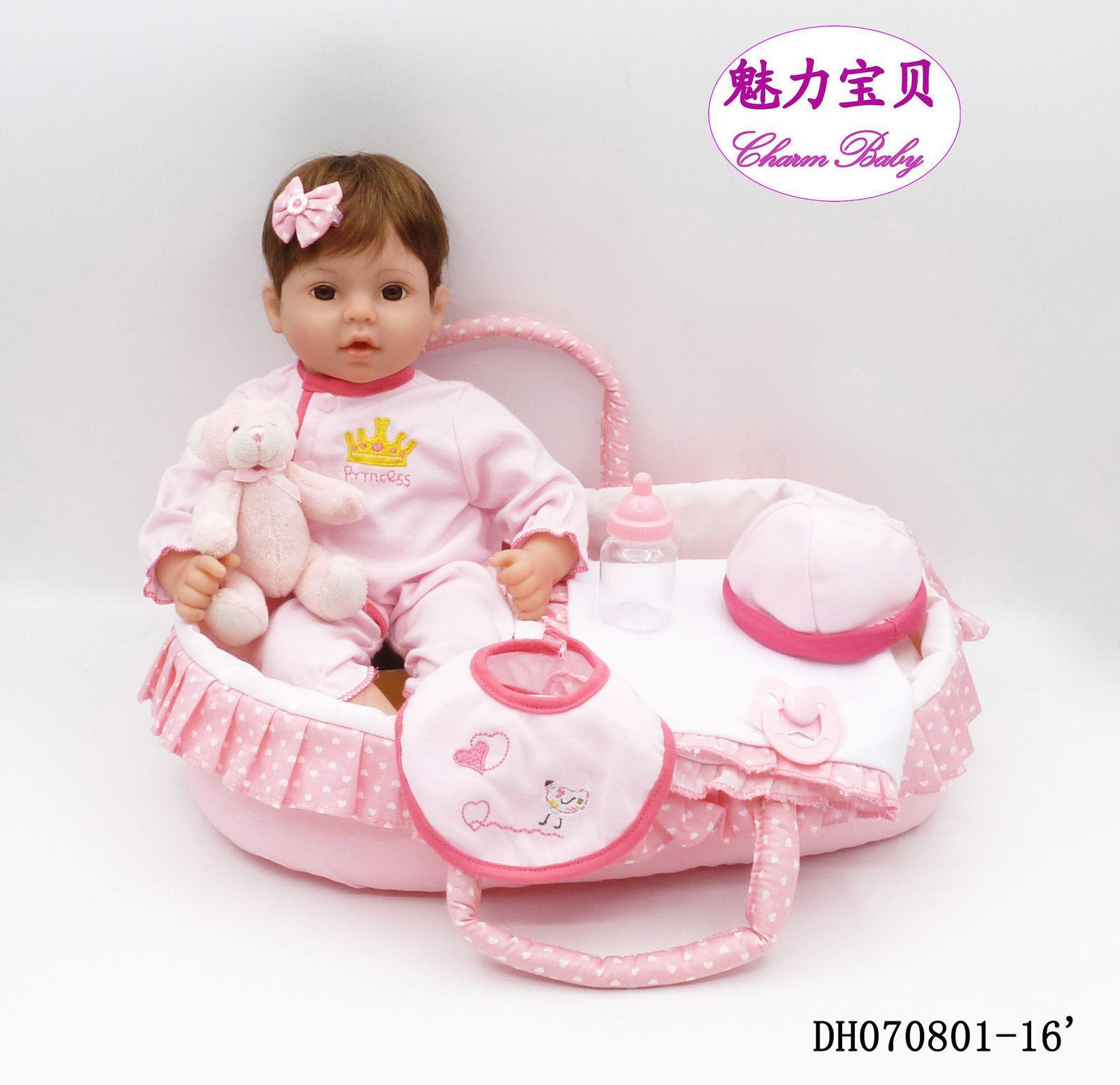 16  realista de Silicona Reborn Bebé Muñeca realista 41cm vinilo suave bebés recién nacidos