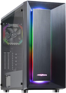 Abkoncore C510S Atx Mid-Tower Pc Gaming Case With Pre-Installed 120Mm...