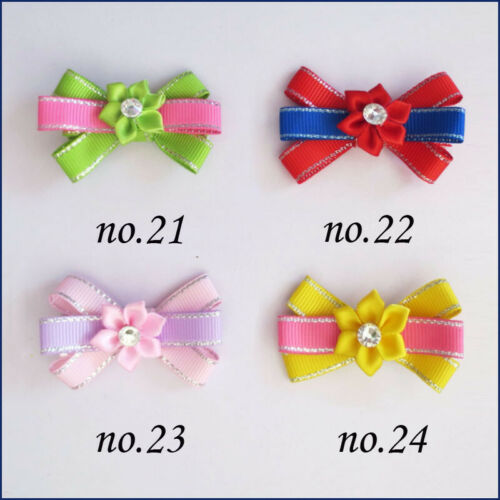 """200 BLESSING Good Girl 2.5/"""" Lily Flower Hair Bow Clip Baby Accessories Wholesale"""