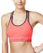 b6d3522b27 Calvin Klein Womens Ruched low Impact Removable Cups Sports Bra Size S-2XL