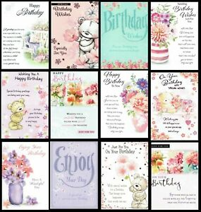 Female ~ QUALITY ~ BIRTHDAY CARD ~ CHOICE OF DESIGNS ~ only 99p each