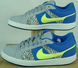 """New Womens 9 NIKE """"Isolate"""" Zebra Purple Gray Leather Party Shoes $75"""