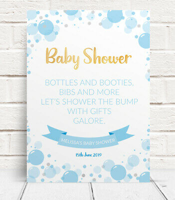 Welcome to the Baby Shower Personalised Table Sign /& Poem Poster Pink Blue