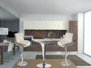 Tavolo regolabile in abs per sgabelli bar abs silver soggiorno