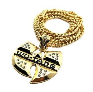 New iced out wu tang pendant 6mm36 cuban link chain hip hop image is loading new iced out wu tang pendant amp 6mm aloadofball Images