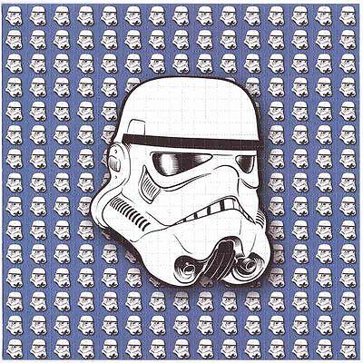 Storm Trooper Blue by Freedee Blotter Art