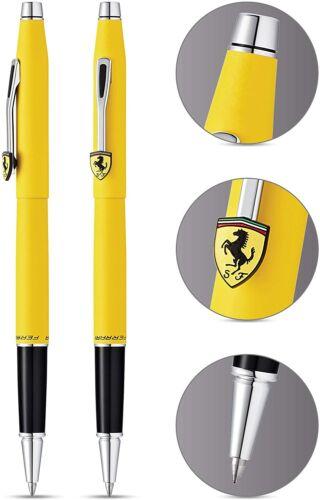 Cross Ferrari Classic Century Gel Ink Modena Yellow Chrome Gift Boxed Black Ink