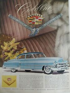 1953-Azul-Cadillac-Sedan-Coche-Van-Cleef-amp-Arpels-Joyeria-Vintage-Anuncio