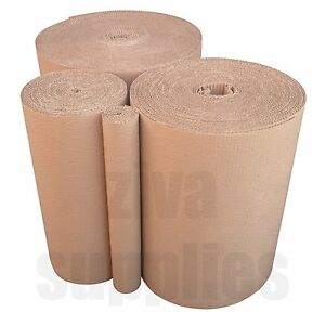 """500 mm/20""""Wide CARDBOARD Kraft Rolls CORRUGATED Strong Paper Packing Moving Wrap"""