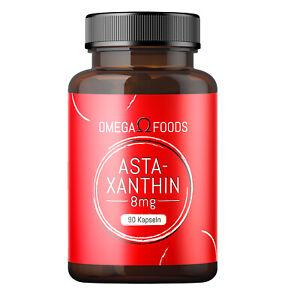 Astaxanthin Kapseln - 90 Astaxanthin Kapseln mit Vitamin E - 8mg Astaxanthin