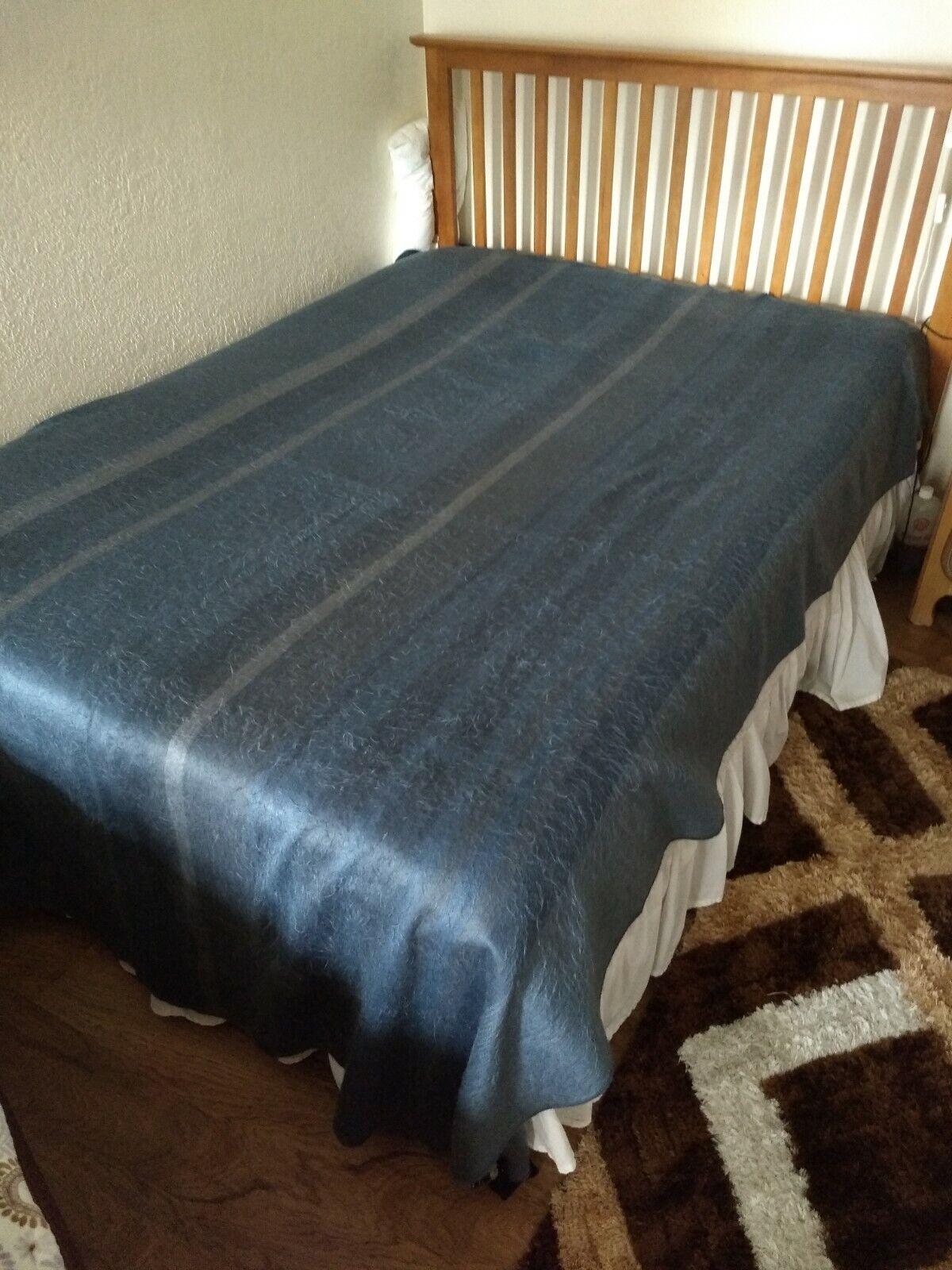 Manta de mezcla shupaca Grandes Alpaca multiColors Muy Suave Cálido Azul gris 96x70