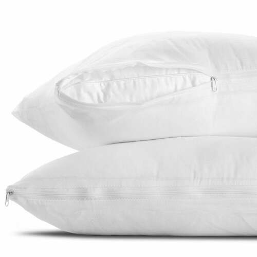 Pillow Protector Zipped Polly-Cotton Pack of 6 Standard Size Pillow case Only