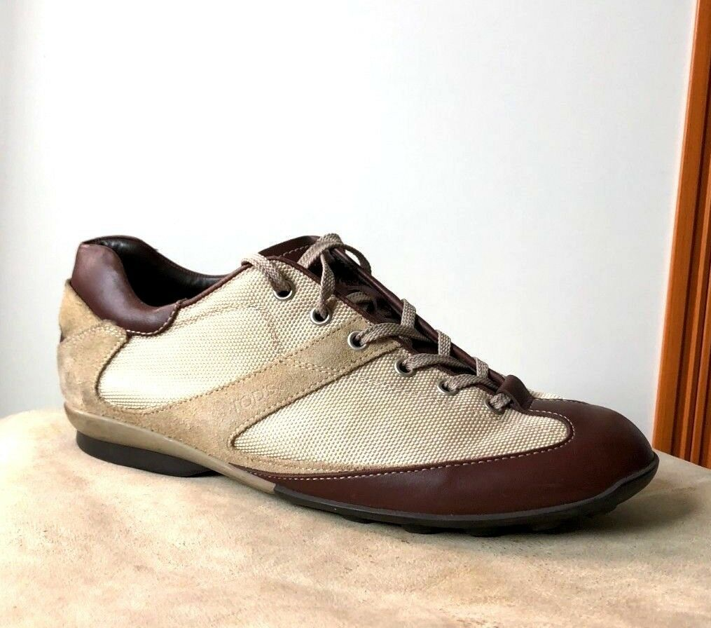 TOD'S Cuir & Toile chaussures 39,5 - 6,5 uk  Derbies promo outlet 39 1 2