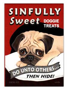 Retro-Dogs-Refrigerator-Magnets-Pug-Doggie-Treats-Vintage-Advertising-Art