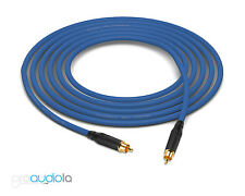 Gotham GAC-1 S/PDIF Pro SPDIF Cable | Black Amphenol RCA | Blue 4 Feet 4 Ft. 4'