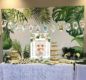 Baby-First-Years-Tropical-Photo-Frame-Banner-and-Large-Frame-Set