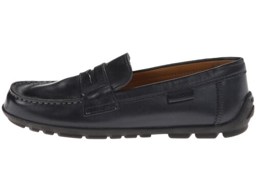 Geox Kids Jr Fast F Navy Leather Loafer