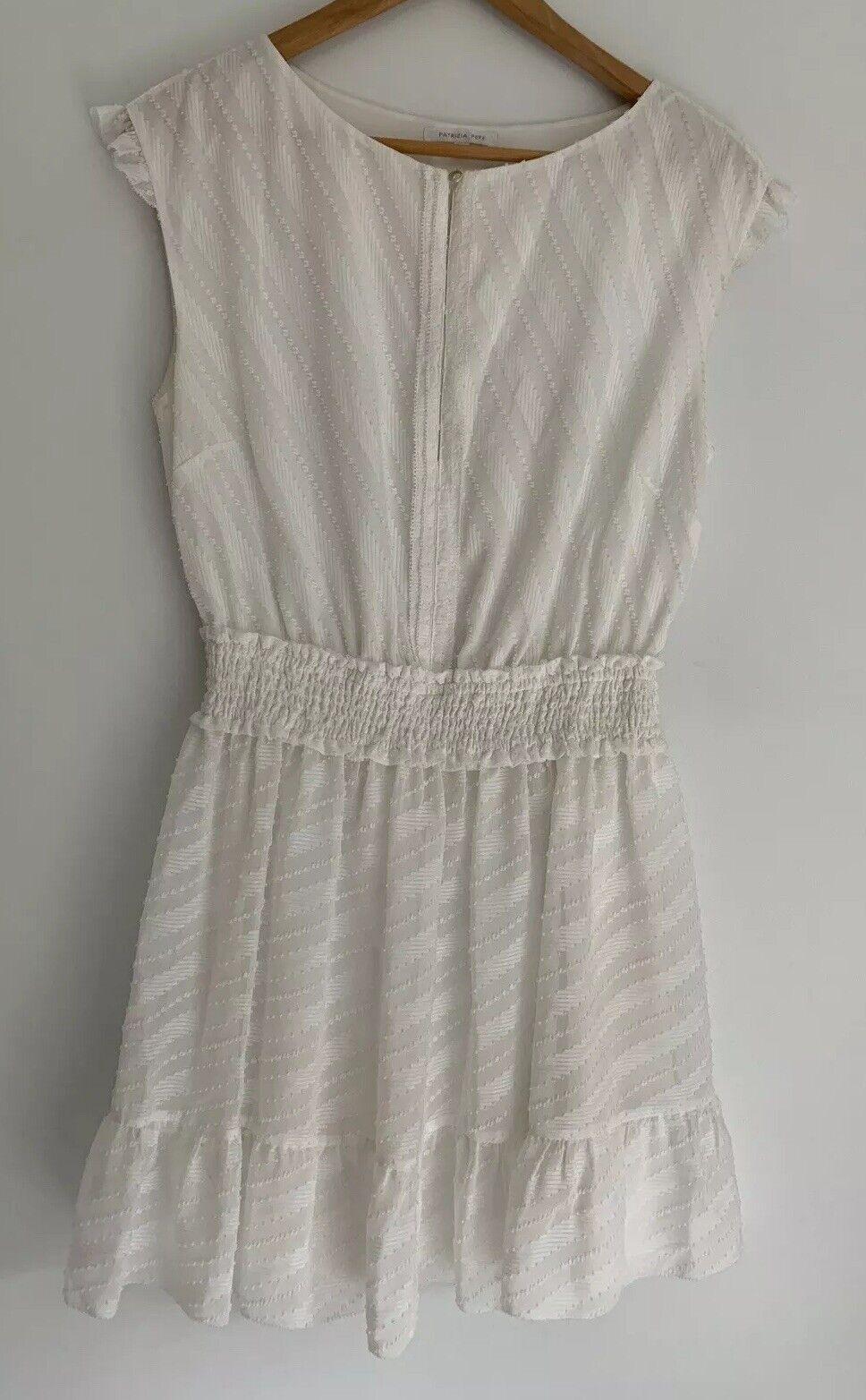 PATRIZIA PEPE divine Texturot Weiß Mini Dress Größe 8-10 AU