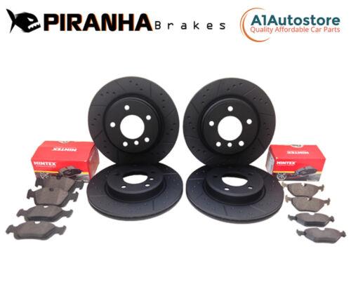 Front Rear Brake Discs Pads Compatible With Jaguar XF 2.7d 01//08-08//09 Piranha