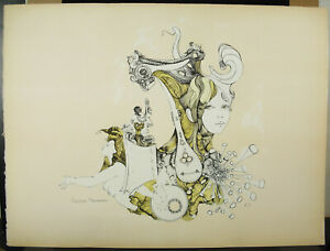 Didier-Moreau-Signed-amp-EA-c1970-Erotica-Symbolism-La-Woman-Orchestra-The-Music