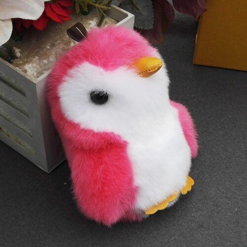 Faux Fur Penguin Bag Pendant Keychain Furry Toy Decor Key Chain Ring Ornaments