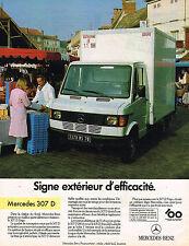 PUBLICITE ADVERTISING 045  1986   MERCEDES-BENZ  307D
