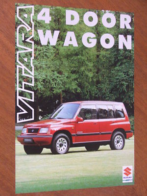 Two 1992 SUZUKI VITARA Australian Brochures WAGON HARDTOP CANVAS TOP as SIDEKICK