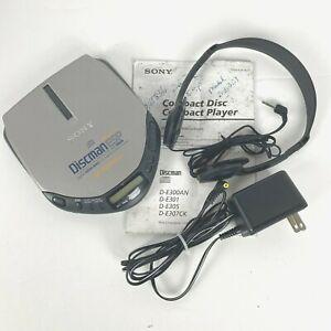 VTG Sony D-E301 Discman ESP Walkman Mega Bass Portable CD Player w/ Headphones