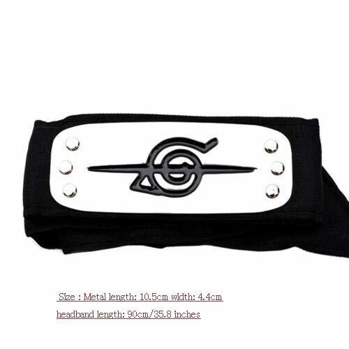 10pcs Naruto Uchiha Itachi Black Leaf Village Konoha Ninja Headband Cosplay