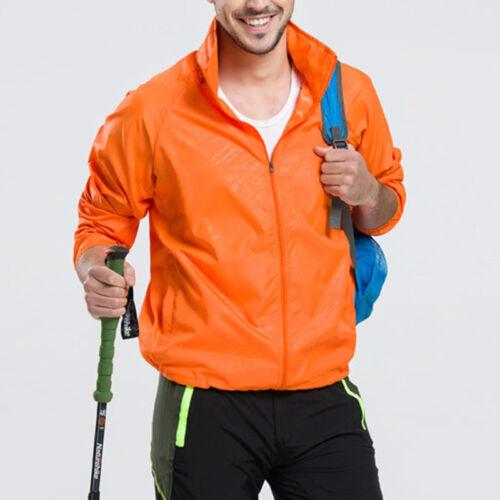 Outdoor Men Women Waterproof Windproof Jacket Oversized Lightweight Rain Coat GS