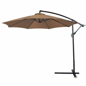 Image Is Loading Patio Cantilever Umbrella Large 10 039 Deck Offset