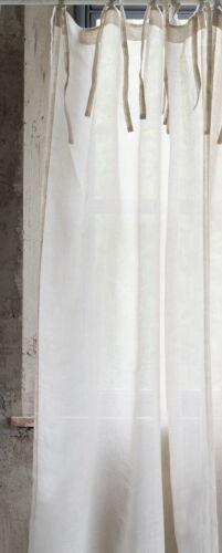 Beatrice 100/% pures Leinen Vorhänge Gardinen shabby chic Landhaus Vintage french
