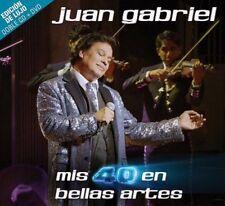 2 CDs + 1 DVD Edicion LUJO OJO** - Juan Gabriel CD Mis 40 En Bellas
