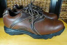 Etonic Golf shoes Brown Leather Mens Size 8.5 M Dry Essentials Waterproof