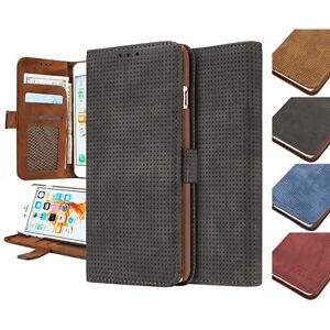 Funda-movil-telefono-tapa-tipo-libro-Carcasa-Monedero-Piel-Ante-PU-Magnetico