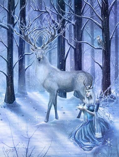3D Picture Gothic Art Clare Bertram Frozen Fantasy Size 39x29 cm appx New