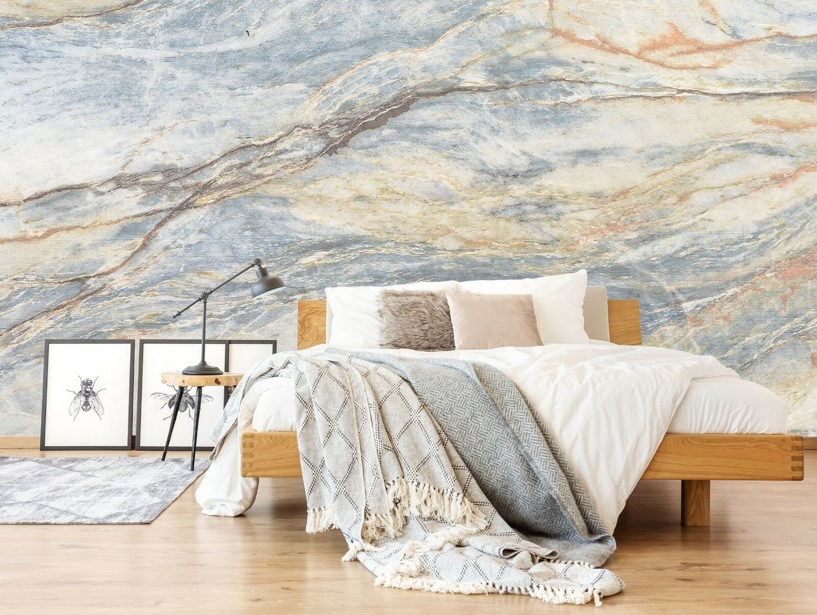 3D Natural Marble Texture 4 Wall Paper Wall Print Decal Wall Deco Indoor Murals