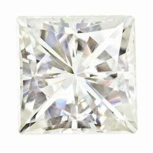1 Prinzess Schliff Moissanit Weiß Brillant 6.5mm Durchmesser 1.40 Halten Sie Die Ganze Zeit Fit