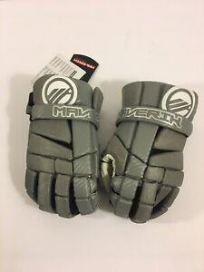 Maverik-Mx-Lacrosse-Player-Gloves-10-Small-Gray-Grey-Brand-New