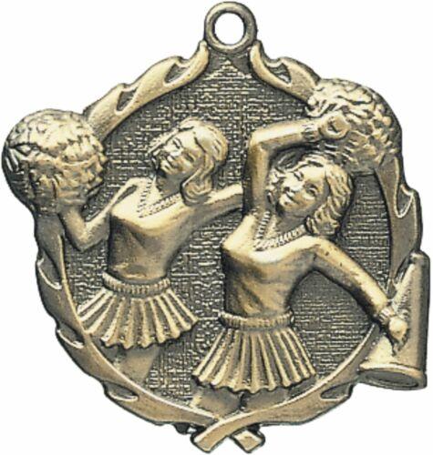 "PUD 1 3//4/"" Cheer Neck Medal 32150 Free engraving"